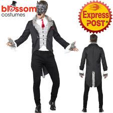 CA437 Mens Deluxe Big Bad Wolf Costume Werewolf Fairytale Halloween Fancy Dress