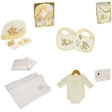 Button Corner & Bambino New Baby Gift Set ~ Blanket Bib Hat  Mittens Babygrow