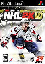 NHL 2K10 Hockey Playstation 2 PS2
