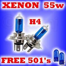 55w XENON HEADLIGHT BULBS Ford Transit H4 free 501's