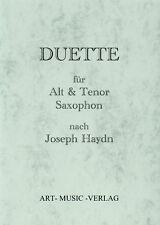 NOTEN DUETTE  ALTSAXOPHON & TENORSAXOPHON NACH JOSEPH HAYDN