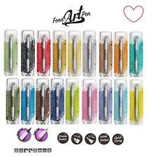 Edible Food Art Pen Cake Art Draw Icing Write Rainbow Dust 2 Nibs