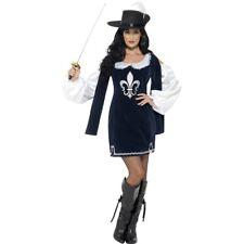 Lady Musketier Damenkostüm Sexy Musketierkleid Piratin Uniform Garde Kleid Hut