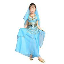 Girl Kids Belly Dance Costume Outfit Bollywood Indian Carnival Children Skirt UK