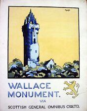 Monument de Wallace Vintage Scottish Bus affiche Poster A3/A2 Print