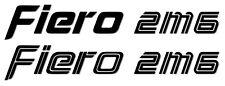 2M6 Pontiac Fiero Rear Deck Lid Vinyl Decal *FREE SHIPPING* 2 Styles & 19 Colors