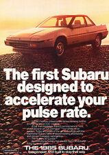 1985 Subaru XT Coupe - Pulse - Classic Vintage Advertisement Ad D27