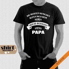 PAPA Die meisten Menschen rufen beim Namen Vati Vater T-Shirt bis 5XL TD190
