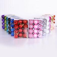 24pcs 30mm Mini Christmas Balls Bauble Plastic Tree Hanging Tree Decoration UK