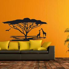 Wandtattoo Wandsticker Afrika Landschaft Safari  Giraffe Baum +12+