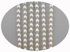 Czech Oval Shaped Glass Pearls 5x3mm, 6x4mm, 7x5mm Bridal Cream Imitation Pearl