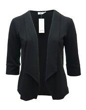 Chaqueta blazer para mujer Negro 16-26 encantador suave tela levantado BNWT Damas * lamer *