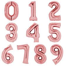 Folienballon 80cm ROSEGOLD Zahlenballon Luftballon Geburtstag Ziffer Zahl Helium