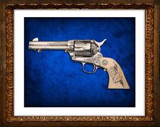 COLT 45 CLASSIC REVOLVER Beautifully Engraved Digital Art Photoprint NRA