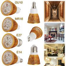 Dimmable GU10 MR16 E27 E14 9W 12W 15W LED Spotlight Golden Shell Bulbs Lamp RD79