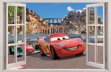 WANDAUFKLEBER FENSTER 3D CARS ZIG ZAG McQUEEN Wand Aufkleber Wandtattoo 12