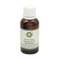 R V Essential Pure Clary Sage Essential Oil Salvia Sclarea 100% Natural