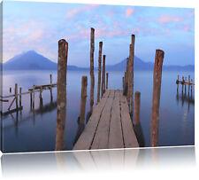 Holzsteg am Meer Leinwandbild Wanddeko Kunstdruck