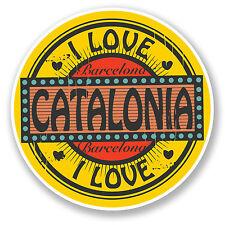 2 X 10 Cm Barcelona Cataluña España pegatina de vinilo calcomanía viaje Equipaje la etiqueta # 6577
