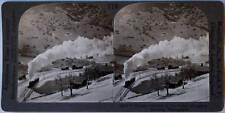 Keystone Stereoview Train at Lauterbrunnen, SWITZERLAND from the 1920's 400 Set