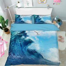 3D Sea Wave 44 Bed Pillowcases Quilt Duvet Cover Set Single Queen King Au Cobb