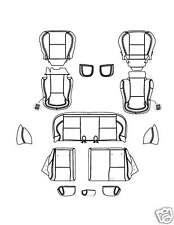 2009 2010 Matrix Base leather Interior Seat Cover BLAK