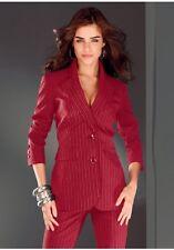 2 pièces LAURA SCOTT pantalon de tailleur ensemble neuf l-gr.76 (38) DAMES Rouge