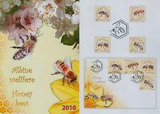 Rumänien 2010 Bienen,Bees,Api,Abeja Mi.6406-09 A,Bl.4,Block 459-62,Block 458,FDC