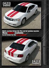 Dodge Avenger 2008-2014 Double Stripes Hood Roof Trunk Decals (Choose Color)
