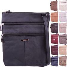 Ladies / Womens Genuine Leather Practical Shoulder / Cross Body Bag