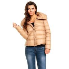 Ligera alimentados chaqueta/cazadora con capucha beige #j767