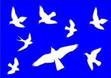 Vogel Aufkleber 8 Stück  Vogelabwehr  Vogelschutz  Wintergarten  Fenster  Nr.501