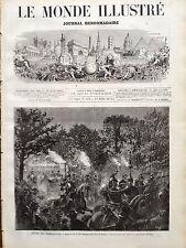 LE MONDE ILLUSTRE 1873 N 849 LE SHAH DE PERSE NASSER- ED- DIN A PARIS