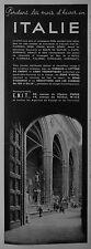 PUBLICITÉ 1937 VACANCES EN ITALIE PENDANT LES MOIS D'HIVER AGENCE E.N.I.T