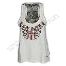 Ladies Vest Brave Soul Womens Tank Top T Shirt Muscle Pearl Sequin Print Chiffon