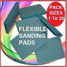 10 FLEXIBLE SANDING PADS Pads SAND PAPER BLOCK Blocks