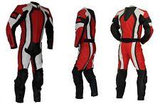 Kc208 Combinaison moto piste circuit 1 pièce KARNO cuir rouge RED-ANGEL
