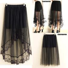 Mini Gonna Donna Tulle Trasparente in Tinta Unita Woman Tulle Skirt 130036 37 38