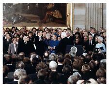 President Ronald Reagan Taking Oath Of Office In Capitol Rotunda Photo