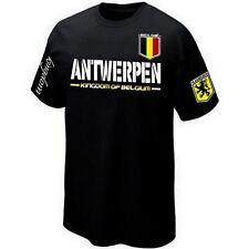 T-Shirt ANTWERPEN VLAANDEREN FLANDRE BELGIË BELGIUM ultras- Maillot Belgique
