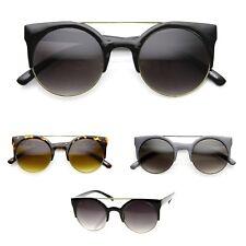 occhiali da sole donna vintage cat eye occhi di gatto rotondi doppio ponte 2018