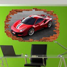 Veloce auto sportiva Ferrari Adesivi Murali 3D Arte Murale Camera Office Home Decor TB5