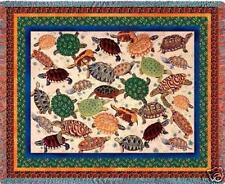 70x54 TURTLE Sea Tapestry Afghan Throw Blanket