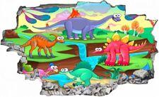 Dinosaurier Dino Cartoon Kinder Wandtattoo Wandsticker Wandaufkleber C0855