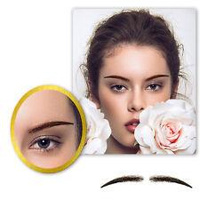 One Pair Women's Handmade False Eyebrows PU Base Human Hair Fake Eye Brows