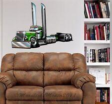 Peterbilt Semi Truck Cartoontees WALL GRAPHIC DECAL #1012 MAN CAVE GARAGE MURAL