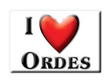 SOUVENIR ESPAÑA GALICIA IMAN MAGNET SPAIN CORAZON I LOVE ORDES (A CORUÑA)
