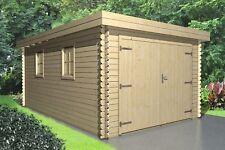 Holzgarage 28mm Flachdach Garage Holz mit Holztor - 3.3x5.1M -  Emmen 28209