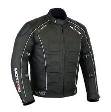 Men,s Motorcycle Motorbike Waterproof Windproof CE Armoured Cordura Jacket Black