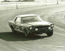 Vintage 8 X 10 Auto Racing Photo 1967 Daytona Ford Mustang No. 66
